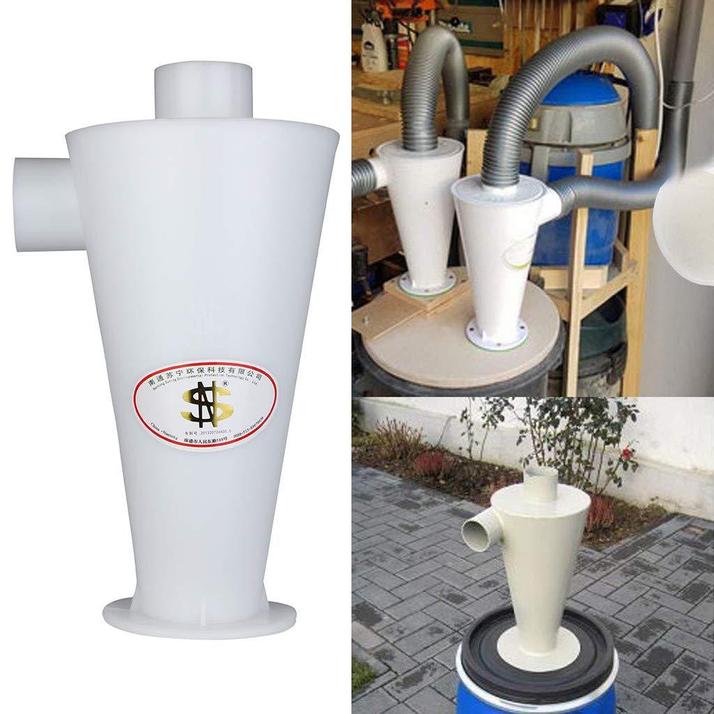 Cyclone - Aspirador de agua y polvo, elemento separador Cyclone Extraction para aspiradora y colector de polvo Cyclone Aspirateur Eau Poussières blanco: Amazon.es: Hogar