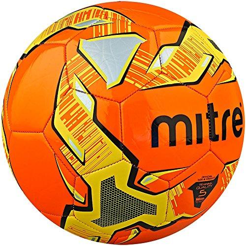 Mitre Trainingsfußball Impel, Orange/Schwarz/Gelb, 4
