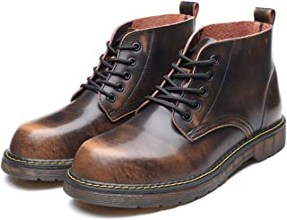 Men's Genuine Leather Handsewn Martin Boots Shoes