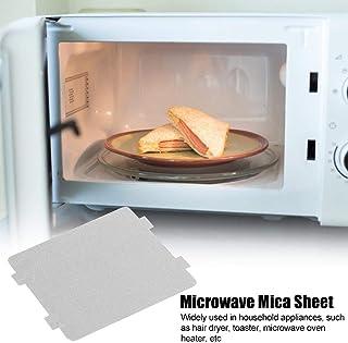 AUNMAS 10Pcs Horno de microondas doméstico Placa de Placa de Mica Espesa Accesorio de microondas 108x99mm