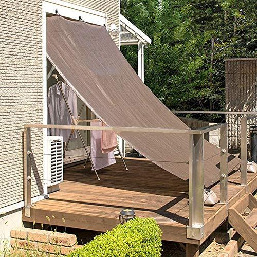 HYDT Toile D'ombrage Couverture de Criblage D'écran de Barrière D'intimité de Balcon, Tissu D'ombrage Sun Shade Cloth Taped Edge avec Oeillets, Taux de 80%, Café (Size : 3×6m)
