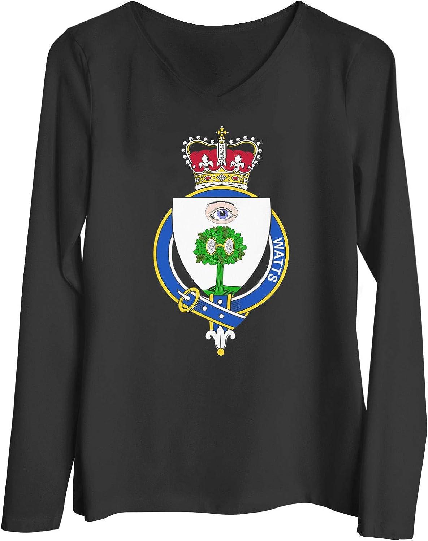 HARD EDGE DESIGN Women's Scottish Garter Family Watts T-Shirt