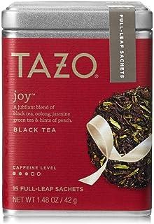Tazo Joy Black, Green & Oolong Teas (Full-Leaf Tea in Tin) 15 Sachets