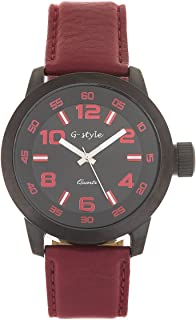 Mens Leather Wrist Watch - Elegant Classic Leather Strap Analog Casual Watches