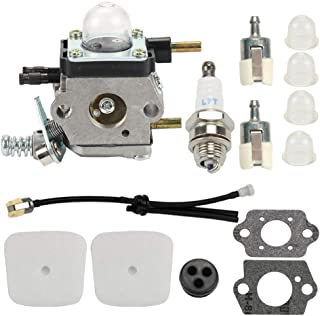 Hayskill C1U-K54A Carburetor for 2-Cycle Mantis 7222 7222E 7222M 7225 7230 7234 7240 7920 7924 Tiller/Cultivator Carb, Echo TC-210 TC-210i TC-2100 with Air Filter Repower Kit