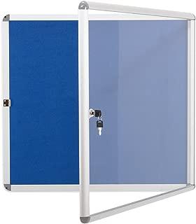 Swansea Lockable Noticeboard Bulletin Pin Fabric Boards Tamperproof with Mounting Screws 28x26 inch (6xA4)