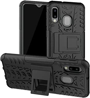 Yiakeng Galaxy A10E Case, Samsung A10e Case, Shockproof Slim Protective with Kickstand Hard Phone Cover for Samsung Galaxy A10E (Black)