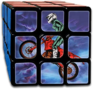 3x3 Rubik Cube Motorcycle Helmet Motocross Smooth Magic Cube Sequential Puzzle