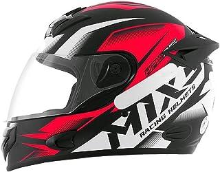Capacete Moto MX2 Storm Preto com vermelho Brilhante 58