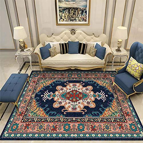 La Alfombra alfombras Infantiles Fácil Limpio Azul Rojo Floral diseño Antideslizante Alfombra alfombras Lavables Alfombra habitación Matrimonio 200X300CM