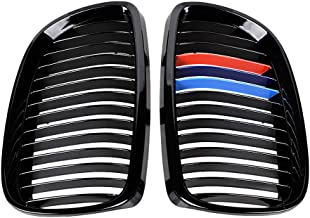 1 Pair Glossy Black M Color Front Upper Kidney Grill Compatible with 2008-2013 3-Series M3 (E92/ E93) 2007-2010 BMW Coupe ...