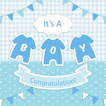 10x10ft Baby Shower Backdrop Its A Boy Backdrop Blue Baby Carriage Dreamy Blue Curtains Photography Background Baby Baptism Party Birthday Party Newborn Boys Girls Portrait Studio Prop