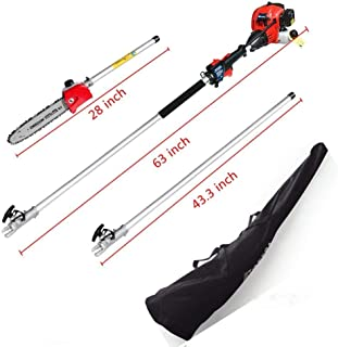 MAXTRA Pole Saw,Powerful Gas Pole Chainsaw 42.7CC 2-Cycle 8.2 FT to 11.4 FT Cordless Extension Pole Saw Tree Trimmer Long Reach Saw with Carry Bag