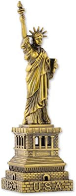 DS. DISTINCTIVE STYLE Ace Select Statue of Liberty Model Statue of Liberty Metallic Statue Statue of Liberty Figurine for Souvenirs - 18 cm