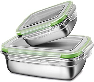 G.a HOMEFAVOR Lunch Box, Stainless Steel Bento Lunch Box Set, 2-Piece Food Fruit Salad Container for Kids & Adults (Single...