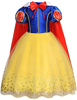 Jurebecia Little Girls Princess Costume for Halloween Party Kids Dress up Toddler Birthday Party Fancy Dresses 3-10 Years