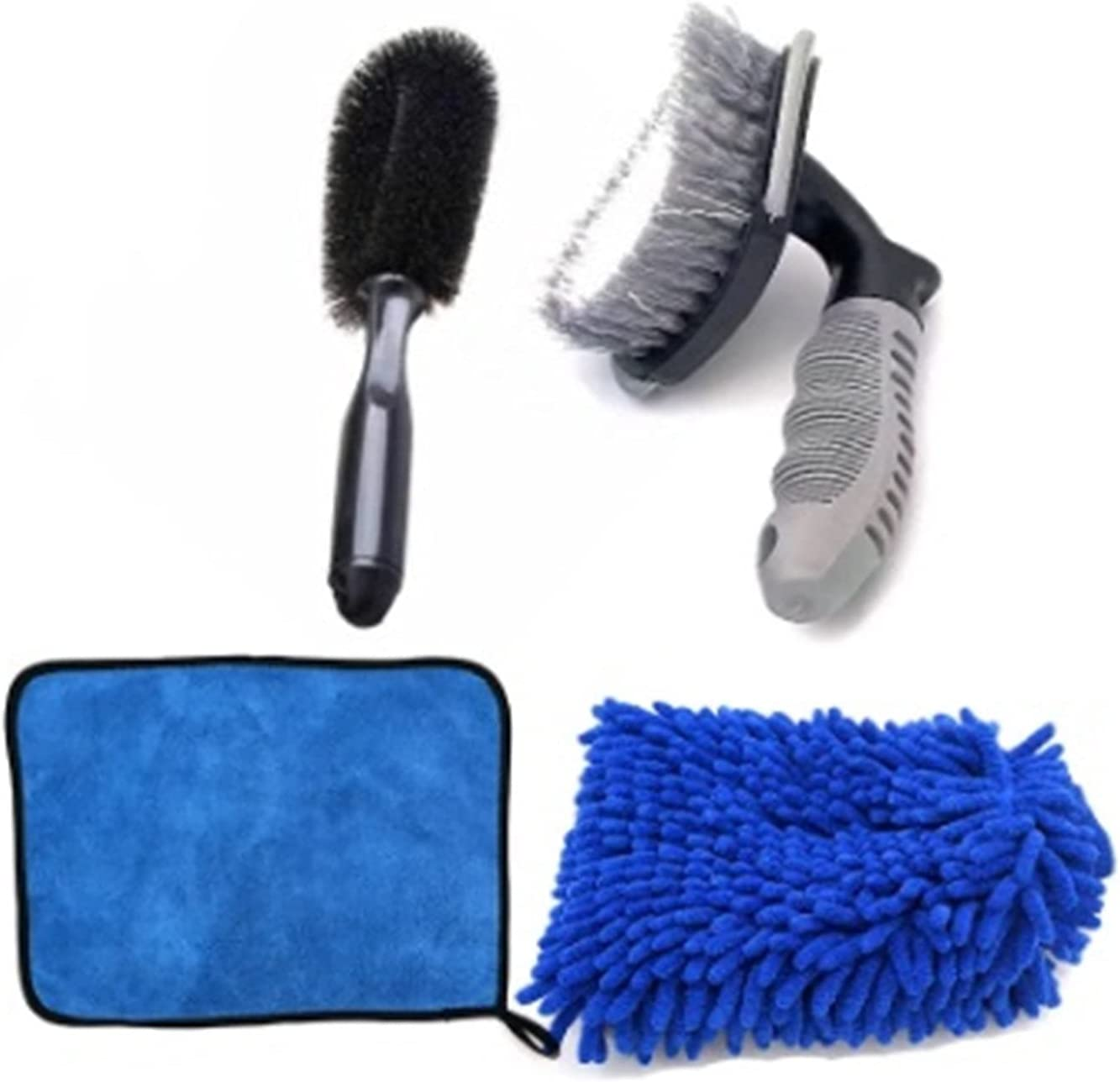 YXIUER In a At the price popularity 4PCS Car Tire Rim Wheel Wate Towel Thick Microfiber Brush