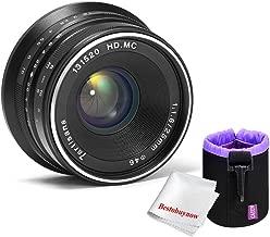 7artisans 25mm f1.8 Large Aperture Manual Focus Lens for Sony E-Mount Cameras A7 A7II A7R A7RII A7S A7SII A6500 A6300 A6000 A5100 A5000 (Black)