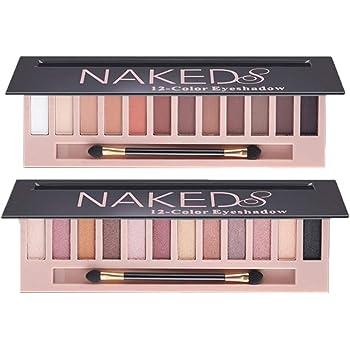 2 Pack 12 Colors Makeup Naked Eyeshadow Palette Natural Nude Matte Shimmer Glitter Pigment Eye Shadow Pallete Set Waterproof Smokey Professional Cosmetic Beauty Kit BESTLAND (2 PCS)
