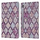 Head Case Designs Officiel LebensArt Maroc Violet Glamour Coque en Cuir à Portefeuille Compatible avec Samsung Galaxy Tab S6 (2019)
