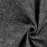 Fabulous Fabrics Filz 90cm / 1mm stark, 50 dunkelgrau —