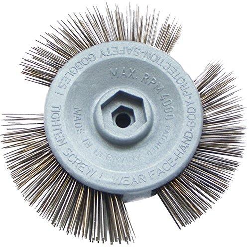 Drahtbürste für Bohrmaschine | Für alle Bohrmaschinen geeignet | Ideale Stahlbürste & Bremsenreiniger | Geeignet für Holz, Stein & Farbe