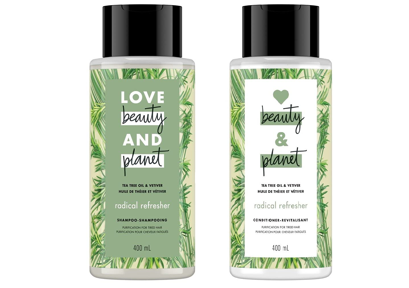 Love Beauty and Planet Tea Mesa Mall Oil Tree Vetiver Rare Refresher Radical