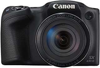 Canon PowerShot SX430 is 20 MP Digital Camera (Black) (International Model No Warranty)