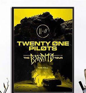 ysldtty Carteles E Impresiones Lienzo Pintura Twenty One Pilots Poster Jumpsuit Rock Music Band Imagen De Arte De Pared para Sala De Estar Decoración para El Hogar LF358G Sin Marco 40cmx60cm