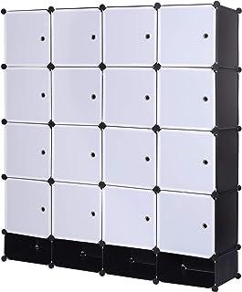 eSituro SGR0038 Armoire de penderie Cube avec portes armoire de rangement modules ranger les vêtements chaussures accessoi...