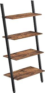 VASAGLE Estantería de Diseño Industrial de 4 Capas Librería de Pared para Sala de Estar Cocina Oficina Acero Estab...