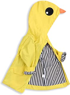 YOUNGER TREE Toddler Baby Boy Girl Duck Raincoat Cute Cartoon Hoodie Zipper Coat Outfit