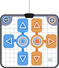 Bewinner Double Dance Mat, Soft Dance Mat/Durable/Small/All Sealant & Foam Portable Non-Slip Dance Pad Replacement Mat & Support for Nintendo Wii Console Game