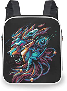 Cool Casual Backpack For Punker Womens Fashion Convertible Crossbody Bag Steam Punk Mechanism Tiger