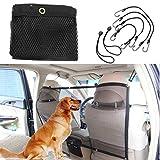 FGF-EU Fgf mesh Pet barriera a rete auto universale veicolo Pet barriera per cani gatti rete di sicurezza con ganci e cinghie 114,3x 62,2cm