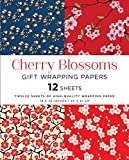 Cherry Blossoms Gift Wrapping Papers 12 Sheets: High-Quality 18 x 24 inch (45 x 61 cm) Wrapping Paper