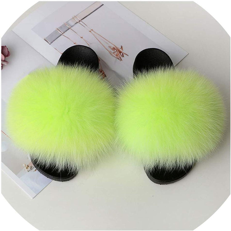 Real Fox Fur Slides Summer 2019 Open Toe Fluffy Real Hair Slipper Slip On Flip Flops Furry shoes,21,131