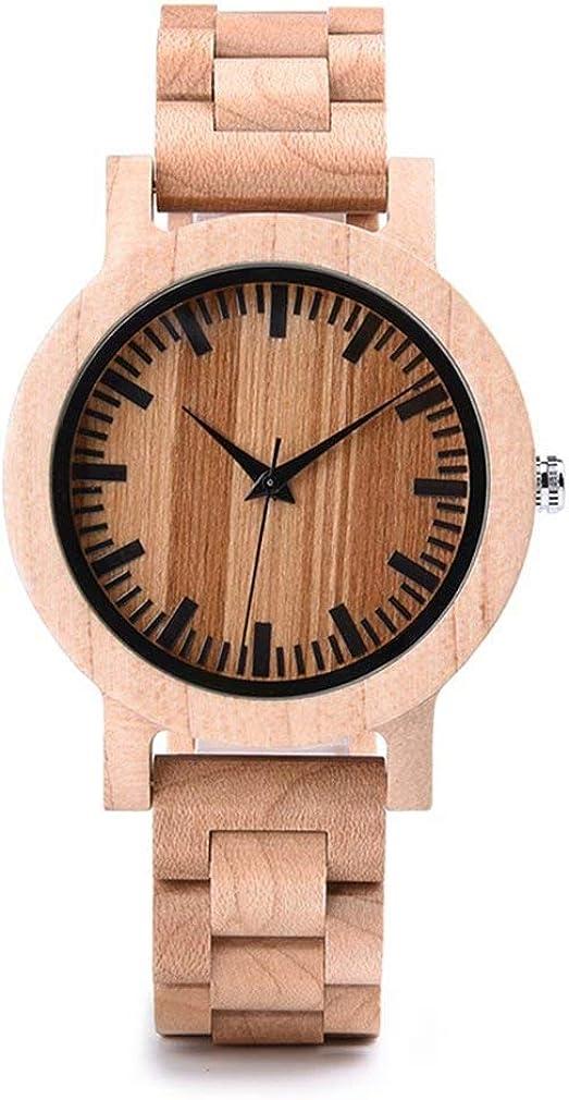 Cool Weekly update Wood Watches for Men Analog Lig 5 ☆ very popular Handcraft Date Retro Quartz