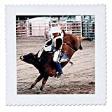 3dRose qs_727_3 Hang on Cowboy Quilt Square, 8 by 8-Inch