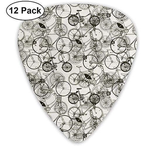 Fiets Bike Classic Gitaar Picks (12 Pack) voor Elektrische Gitaar, Akoestische Gitaar, Mandoline en Bas