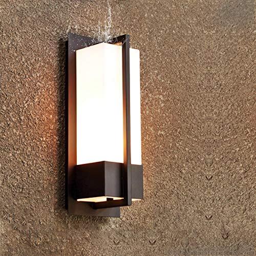 Combuh Apliques De Exterior Tradicional Cuadrado Resistente al Agua luz E27 Luz Exterior Pared Simple Modern Impermeable IP65 del patio lámpara creativo Pasillo Exterior Balcón Aplique