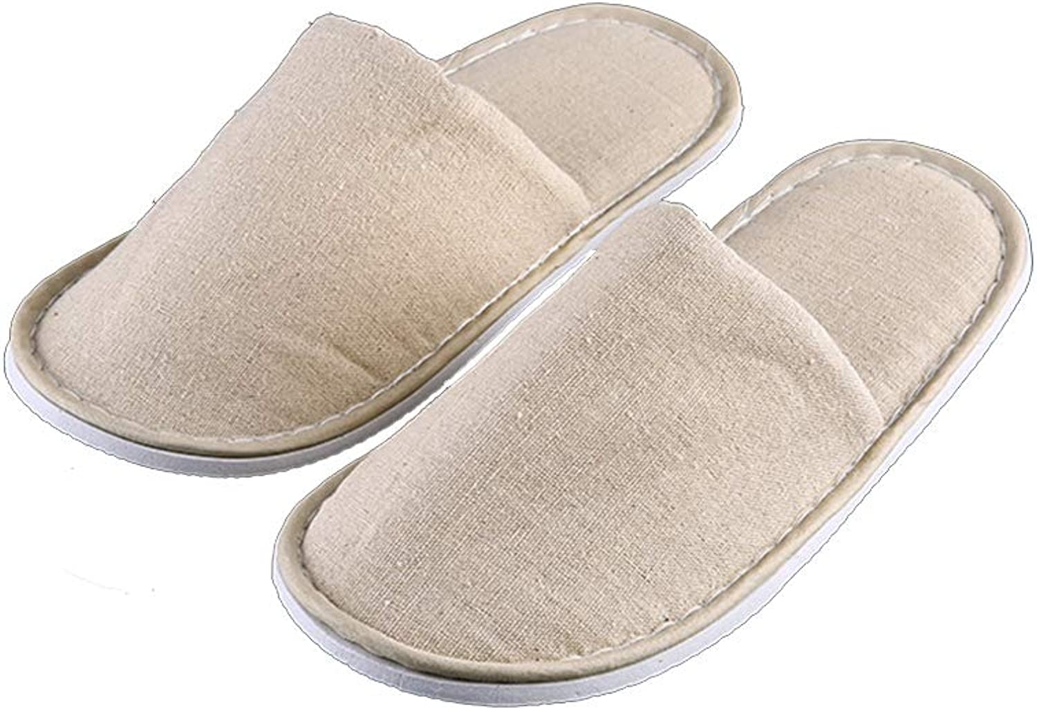 YNN 10 Pair Hotel Travel Spa Disposable Slippers Home Guest Closed Toe Terry Cloth Slippers