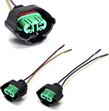 iJDMTOY (2) OEM H11 H8 Female Adapters Wiring Harness Sockets w/ 4-Inch Wire Pigtails For Headlights or Fog Lights Use