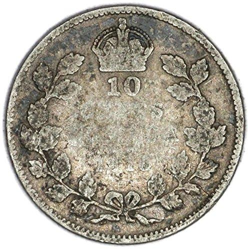 1916 CA George V Canadian Silver Dime KM# 23 10 Cent FAIR