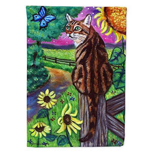 Caroline's Treasures 7425GF Bengal Cat Flag Garden Size, Small, Multicolor