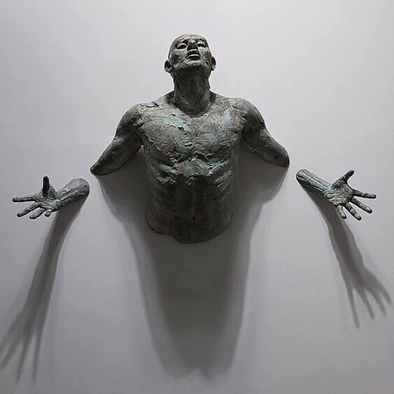 MTTLS San Antonio Mall Famous Man Sculpture Antique Ranking TOP6 Wall Bronze Art On
