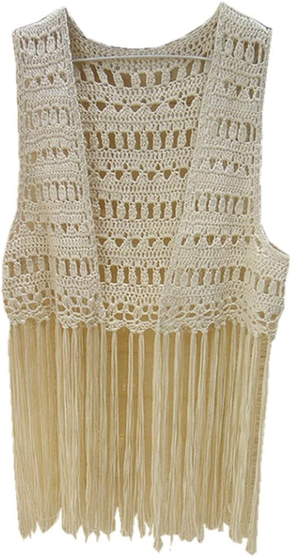 Tinacrochetstudio Crochet Bikini Cover up Fringe Tank Top Hippie Summer Beachwear