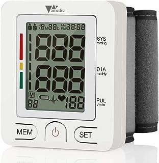 Wrist Blood Pressure Monitor - Amzdeal Blood Pressure Cuff BP Machine with Heartbeat Detector, Reading