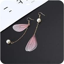 Asymmetric Dangle Earrings Beautiful Fairy Tale butterfly Wing Earring Ear Free Hole Eardrop Jewelry