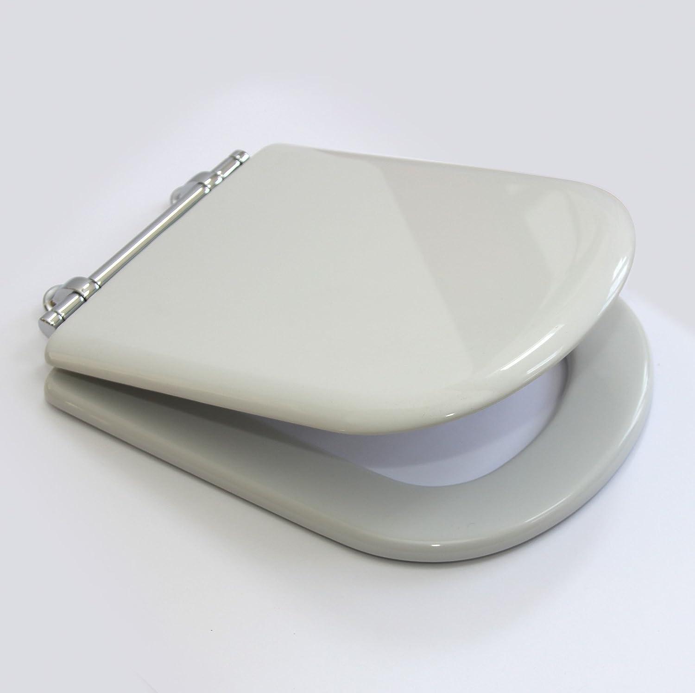 Ideal Standard sottini Echte Reprise WC-Sitz mit Cover in Wei mit Scharniere chrom